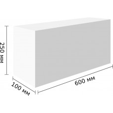 Перегородочные блоки D400,600x250x100