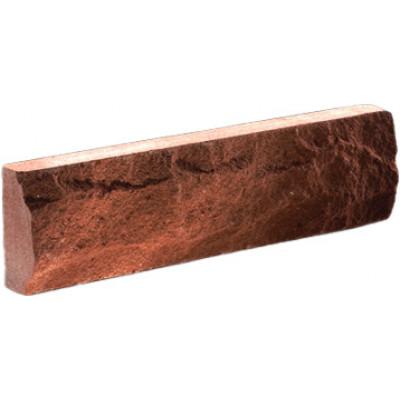 """Фасадная плитка Литос """"скала"""" красная, 250*65*12"""
