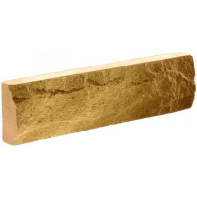 """Фасадная плитка Литос """"скала"""" слоновая кость, 250*65*12"""