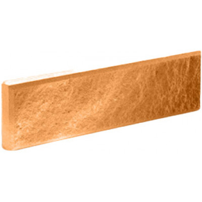 """Фасадная плитка Литос """"колотая с фаской"""" терракот, 250*65*20"""